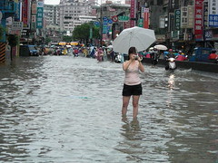 611暴雨,新北多處成了水鄉