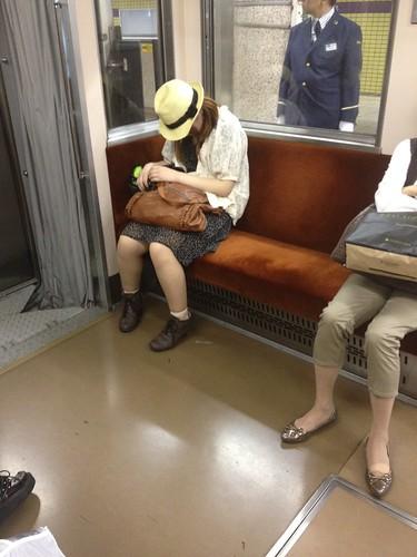 En el metro a Omotesando, Tokio