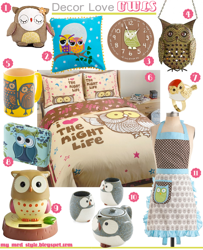 Decor Love - Owls