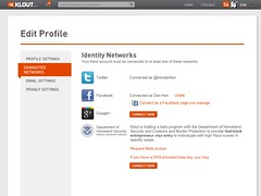A POSSIBLE FUTURE: Klout and the Department of Homeland Security / CBP - Oauth by danhon