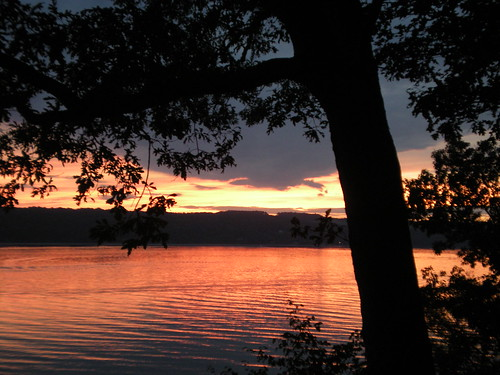 Sunset over Seneca Lake, Finger Lakes, NY