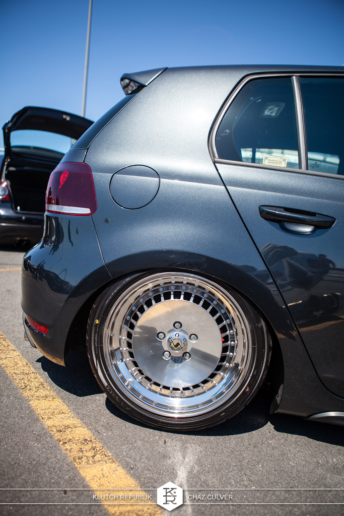 mk6 vw gti on airride and 3pc schmidt th-lines at eurofest 2012