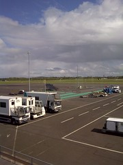A view of Belfast International airport