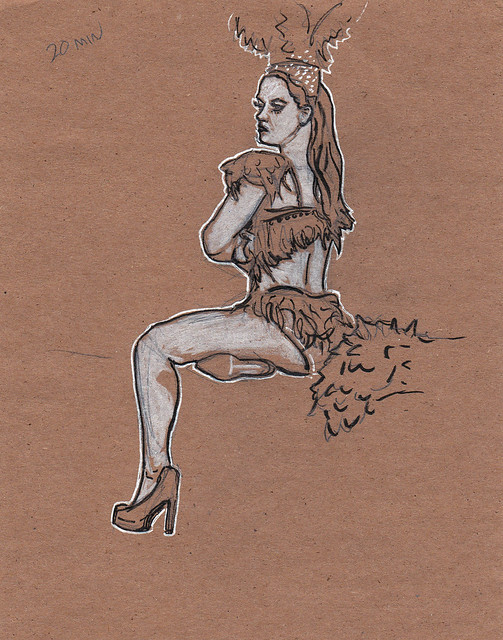 Dr. Sketchy's Baltimore with Marla Meringue 1