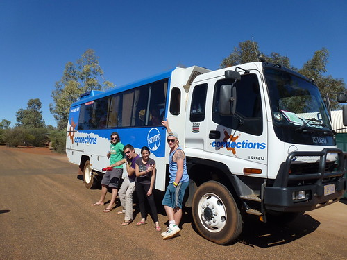 The Big Outback Adventure winners with the Intrepid bus