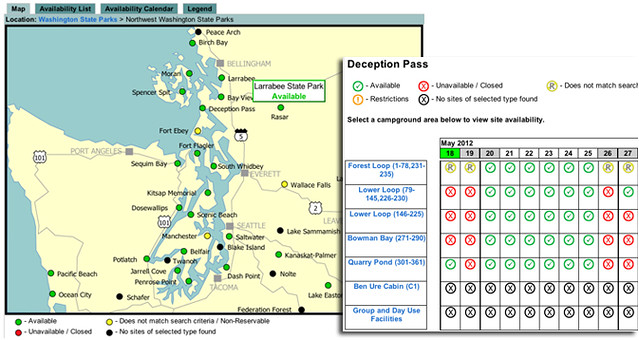 Washington State Parks Reservations