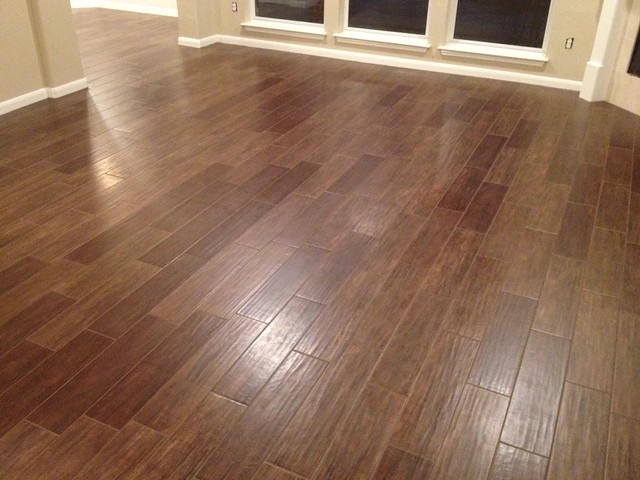 We Just Finished The Install Of Our Porcelain Plank Wood Tiles We