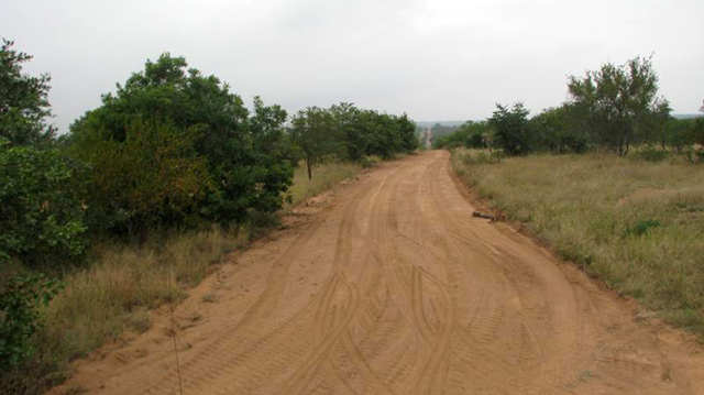 Road separating the Kruger from Timbavati Nature Reserve