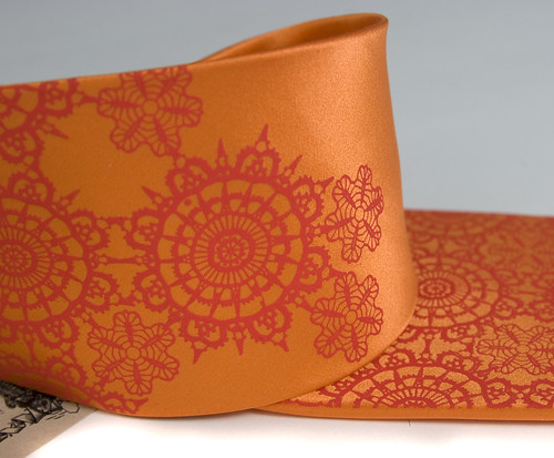 Cottage Lace: pumpkin silk by Cyberoptix™