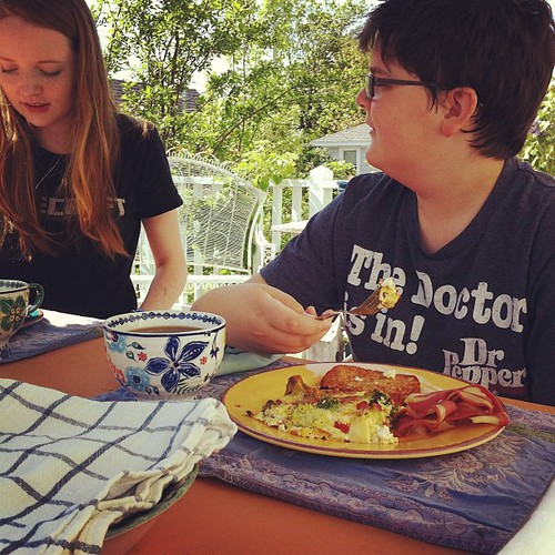 love listening to their discussions over breakfast #rituals #familymeals #breakfast #unschooling