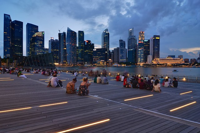 Singapore, Marina Bay, late afternoon