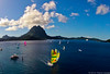 Tahiti Pearl Regatta, leg 2 departure from Bora Bora by Pierre Lesage