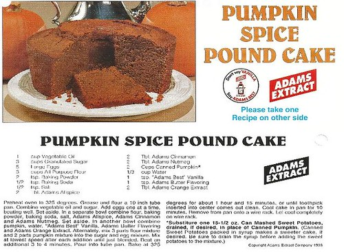 Classic Adams Pumpkin Spice Cake