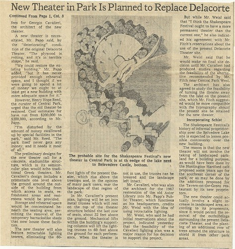 08/07/74 New York Times (New Theater In Park Is Planned)