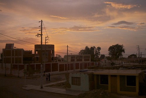 sunset peru panamericana