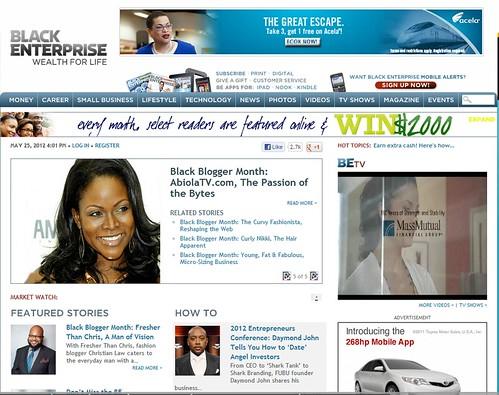 Black Enterprise.com Front Page - Abiola Abrams