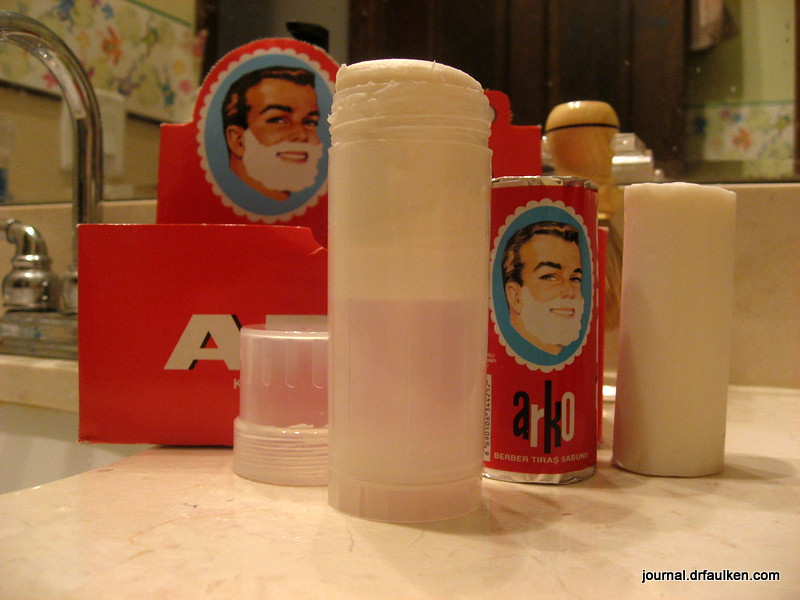 Arko Shaving Soap and West Coast Shaving Twist-Up Shaving Stick Container Review
