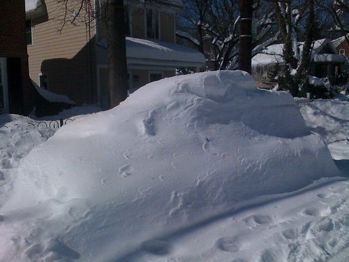 Last year the Washington, DC region had only a few inches of snow. However, in 2010, this car was completely covered in over 20 inches of snow from just one storm.