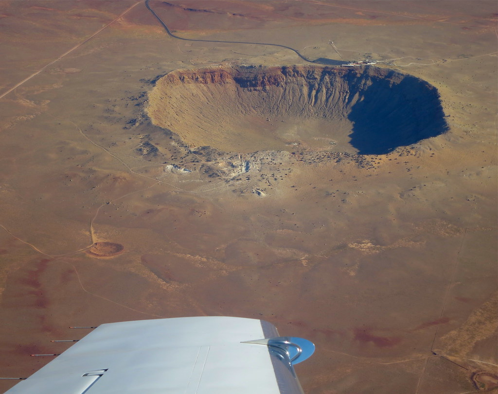 Circling Meteor Crater