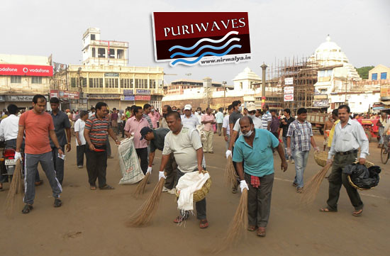 Cleaning Programme at Grand Road Puri