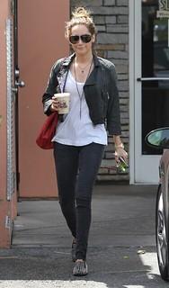 Ashley Tisdale Studded Loafers Celebrity Style Women's Fashion