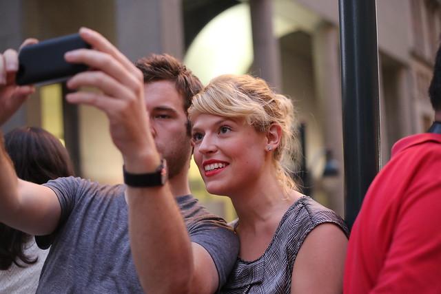 Couple at Manhattanhenge