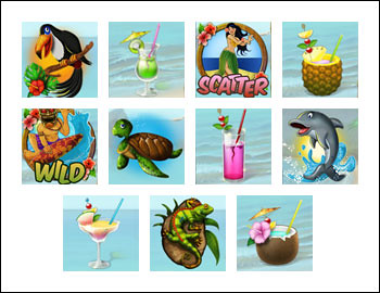 free Tiki Wonders slot game symbols