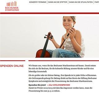 bochumer-symphonie.de: Google Cache zu den Spenden zum Musikzentrum