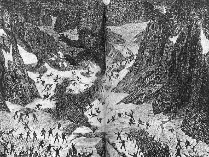Theodor Kittelsen - Big troll in Breifonnen, 1892