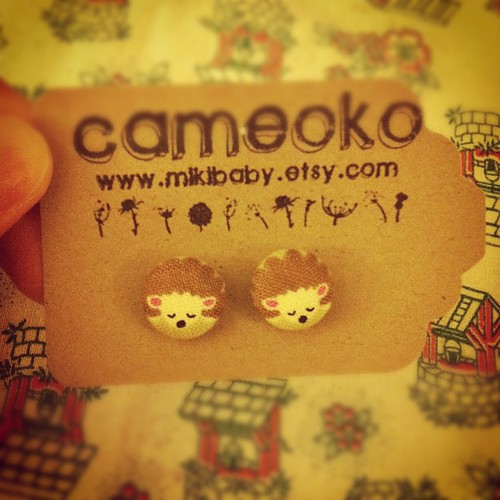 These earrings by @cameoko are so cute. I love them.