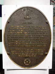 Photo of John Cole, Thomas Cole, and Skelton Cole bronze plaque