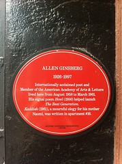 Photo of Allen Ginsberg red plaque
