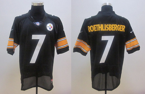 Nike Pittsburgh Steelers #7 Ben Roethlisberger black Jersey