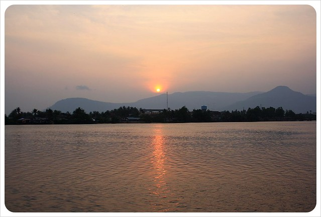 kampot river sunset