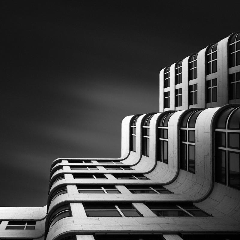 joel tjintjelaar architecture shape berlin photograph photographs prints architectural abstract buildings shapes photographer modern bw urban haus shell xi monochrome
