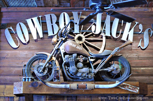 Motorcycle Above the Bar at Cowboy Jack's ~ St Cloud, MN
