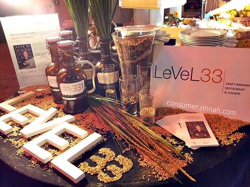 level33 booth setup