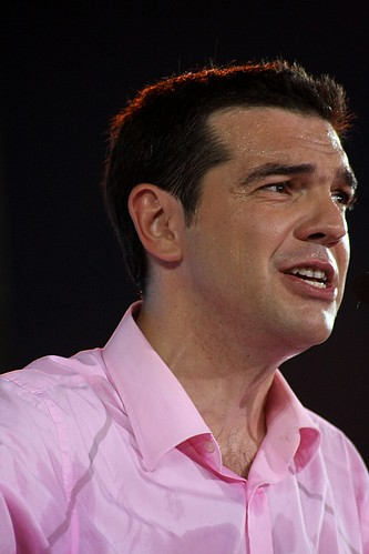 Alexis Tsipras addressing campaign rally in Thessaloniki, Greece by Teacher Dude's BBQ