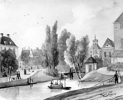 <p>Stadsbuitengracht, oostzijde, Maliesingel en Lucasbolwerk. Coll. Het Utrechts Archief.</p>