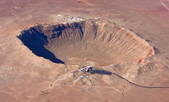 volcanic crater, geology, terrain, aerial photography,
