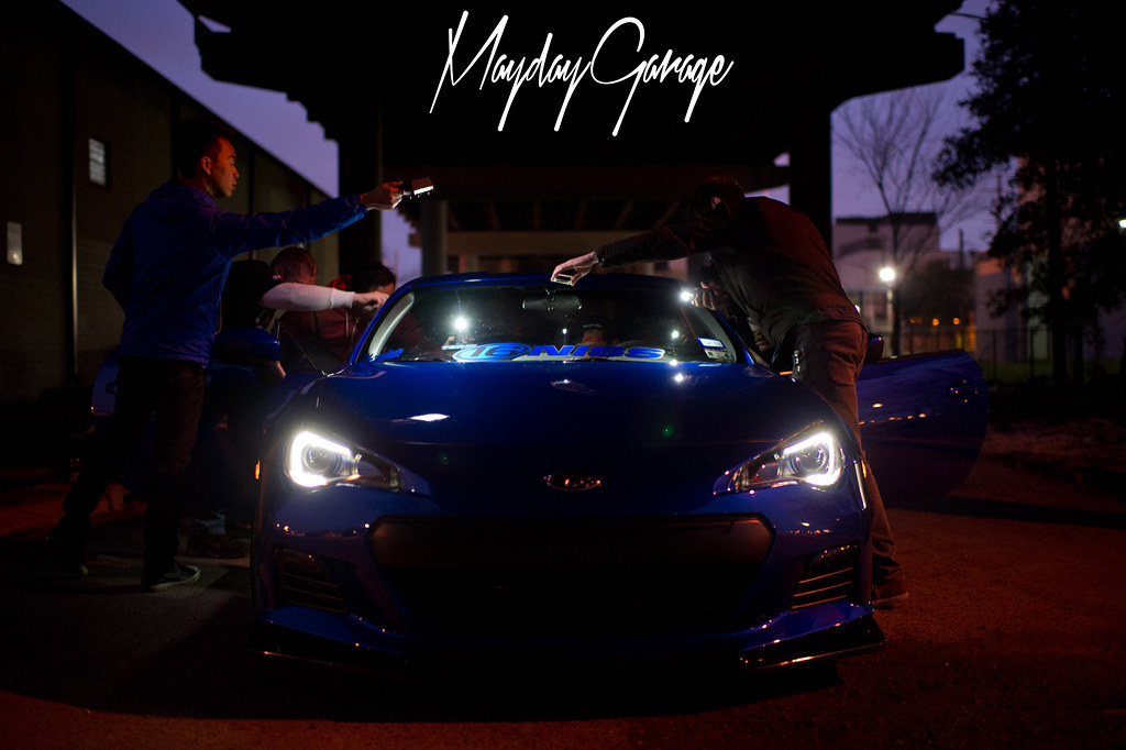 Greg Lily's BRZ proves that fancy lighting isn't required. Just a bunch of smartphones.