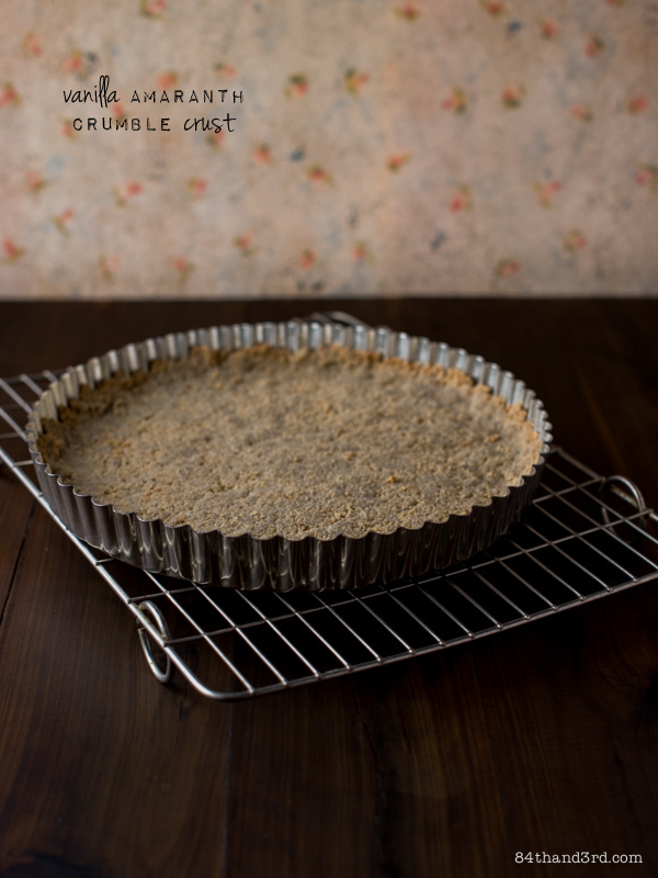 Vanilla Amaranth Crumble Crust