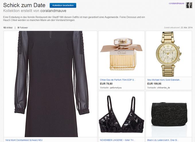 eBay inspiriert Kollektionen