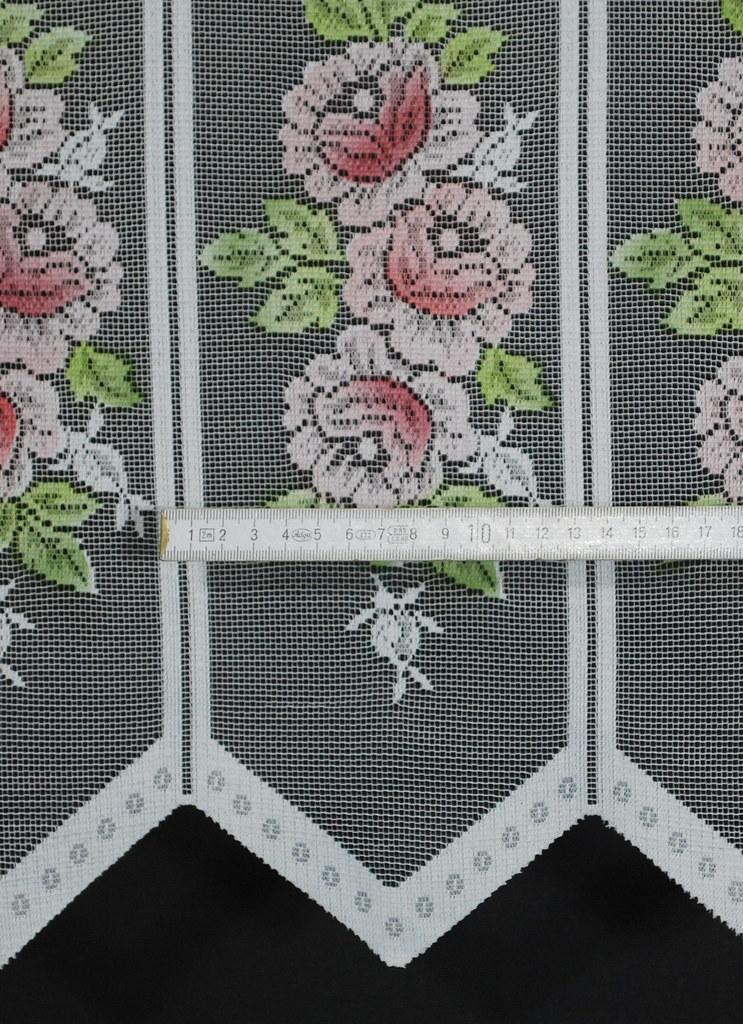 scheibengardine rose 60x13 cm h b farbe w hlbar ebay. Black Bedroom Furniture Sets. Home Design Ideas