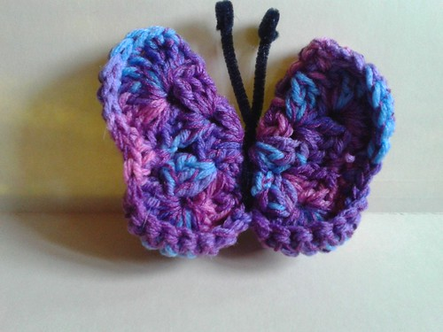 Neil's crocheted butterfly