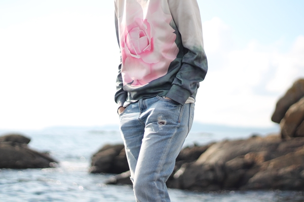 sudadera sheinside rosa
