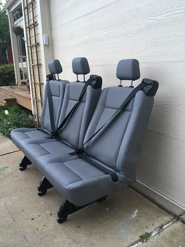 2015 Ford Transit 3 Person Bench Seat Vinyl With Reclining