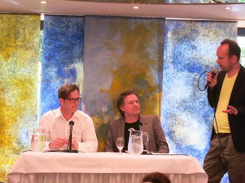 Yannick Haenel, Tom Gerber und Peter Oppermann