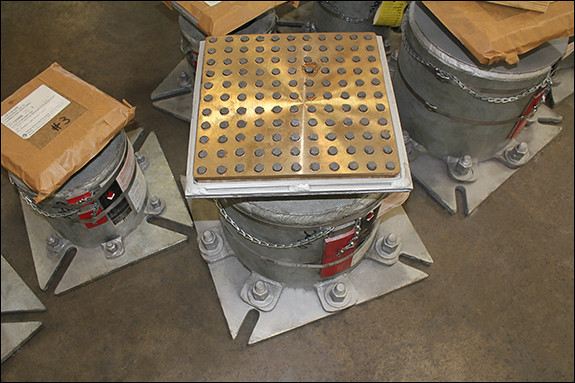 Variable Spring Support with Bronzphite® Slide Plates Designed for a Facility in Canada
