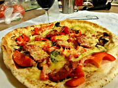 Pizza cooked in airfryer/oven